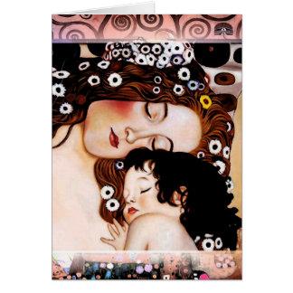 Cartes Mère et enfant par le collage de Gustav Klimt