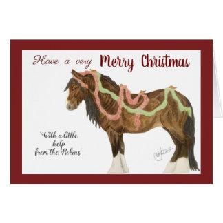 Cartes Merles et cheval de Noël