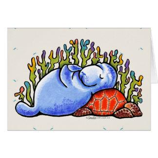 Cartes Message de coutume de soirée pyjamas de tortue de