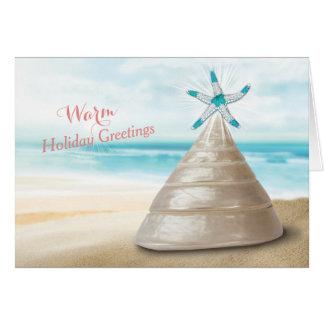 Cartes Message de salutations chaudes d'arbre de Noël de