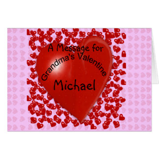 Cartes Message de Valentine de la grand-maman