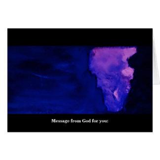 CARTES MESSAGE D'UN DIEU (POUR VOUS)