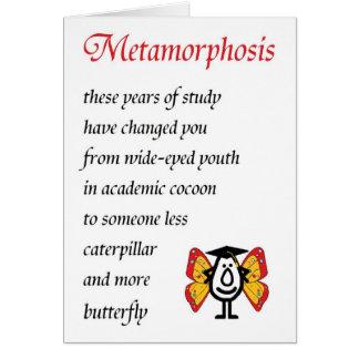 Cartes Métamorphose - un poème drôle d'obtention du