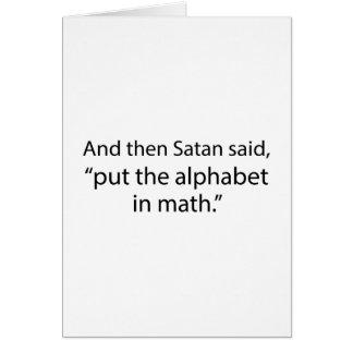 Cartes Mettez l'alphabet dans les maths