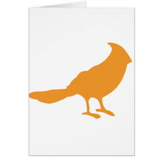 Cartes Mettez un oiseau là-dessus (l'orange)
