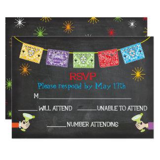 Cartes mexicaines de la fiesta RSVP