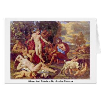 Cartes MIDAS et Bacchus par Nicolas Poussin