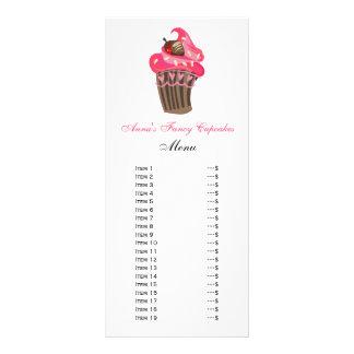 Cartes mignonnes de menu de petits gâteaux cartes doubles