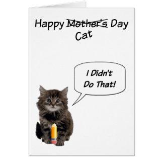 Cartes mignonnes du jour de mère de chaton