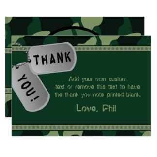 Cartes militaires de Merci Carton D'invitation 8,89 Cm X 12,70 Cm