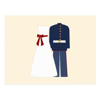 Cartes militaires de réponse de mariage de mariage