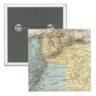 Cartes militaires historiques du Venezuela Badge Carré 5 Cm