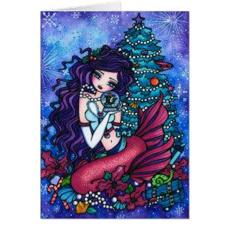 Cartes Milou prise Noël d'orque de sirène d'imaginaire