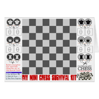 Cartes Mini trousse de survie d'échecs de do-it-yourself
