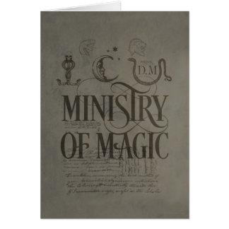 Cartes MINISTÈRE du charme | de Harry Potter de MAGIE