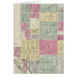 Cartes Minneapolis, le comté d'Ottawa, le Kansas