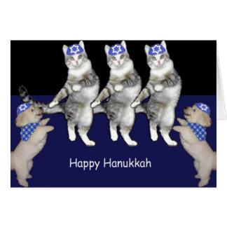 Cartes Minous de Hanoukka de danse