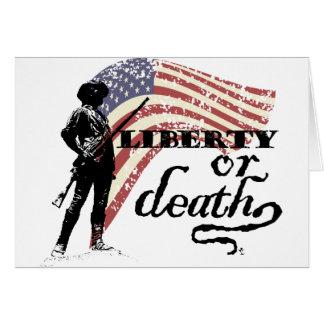 Cartes Minutemen de liberté ou de mort