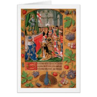 Cartes Mme Add 25698 f.3 a illuminé la page d'un livre de