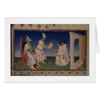 Cartes Mme Fr 2810 f.3v Kublai Khan (1214-94) donnant son