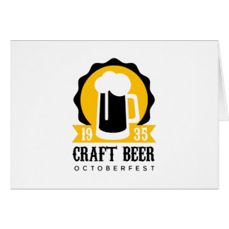 Cartes Modèle de conception de logo de bière de métier