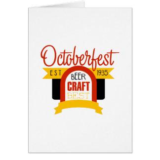 Cartes Modèle de conception de logo d'Oktoberfest