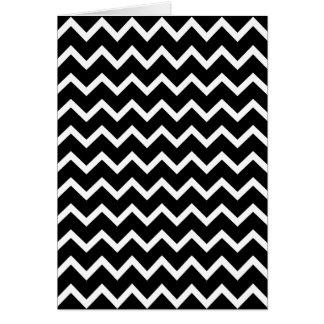 Cartes Modèle de zigzag noir et blanc
