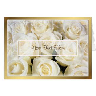 Cartes Modèle d'élégance de rose blanc