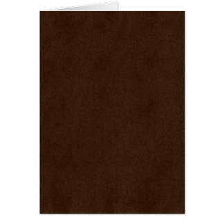 Cartes Modèle foncé vintage de parchemin de Brown de café