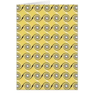 Cartes Modèle jaune et noir et blanc de remous