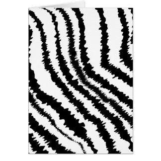 Cartes Modèle noir d'impression de zèbre