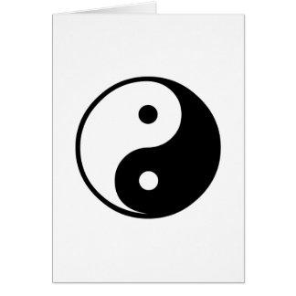 Cartes Modèle noir et blanc d'illustration de Yin Yang