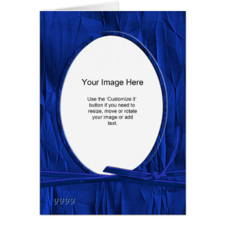 Cartes Modèle photo - Noël chiffonné de bleu de cobalt