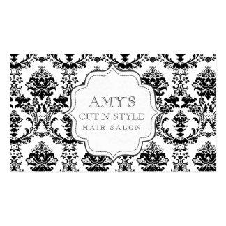 Cartes modernes à la mode blanches noires de salon carte de visite