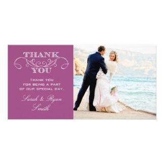 Cartes modernes de Merci de photo de mariage Photocarte Personnalisée