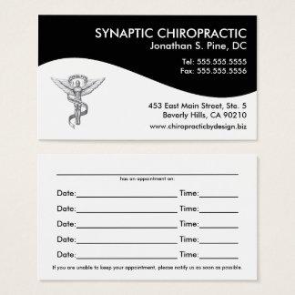 Cartes modernes de rendez-vous de chiropractie de