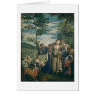 Cartes Moïse a secouru du Nil, 1580 (l'huile sur la