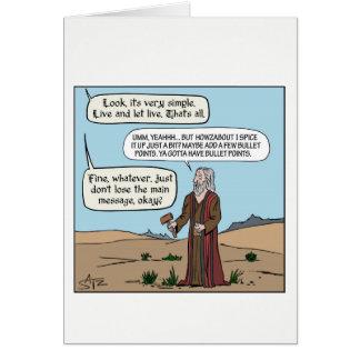 Cartes Moïse obtenant les commandements