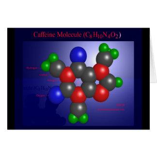 Cartes Molécule de caféine (carte)