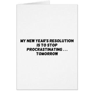 Cartes Mon arrêt de la résolution de nouvelle année