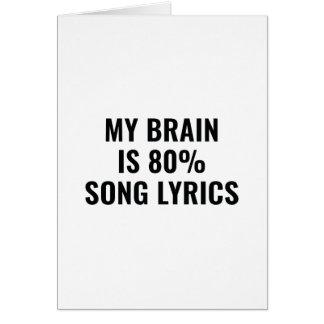 Cartes Mon cerveau est des textes de chanson de 80 pour