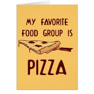 Cartes Mon groupe d'aliments préféré est pizza