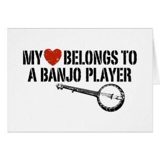 Cartes Mon joueur de banjo de coeur