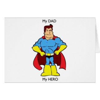Cartes Mon papa mon super héros de héros