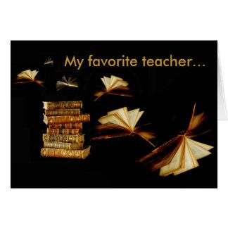 Cartes Mon professeur préféré…