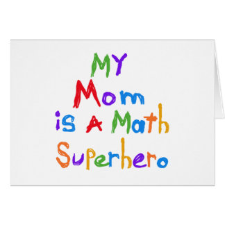 Cartes Mon T-shirts et cadeaux de super héros de maths de