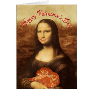 Cartes Mona Lisa aime la sucrerie de Valentine