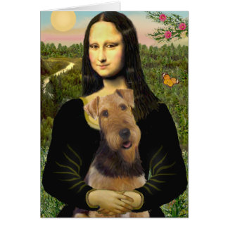 Cartes Mona Lisa - Airedale Terrier (#1)