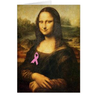Cartes Mona Lisa avec le ruban rose