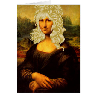 Cartes Mona Lisa blonde